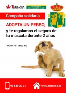 cartel adopta un perro SERRANILLOS DEL VALLE
